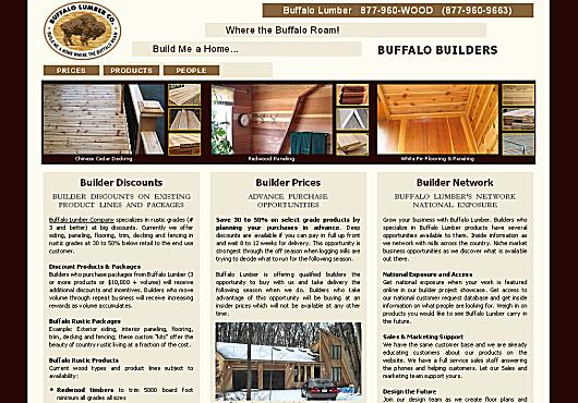 Buffalo Lumber Builder Discount Prices
