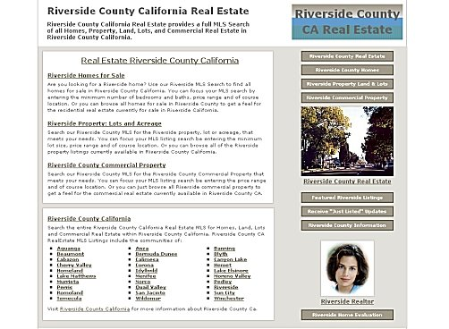 Real Estate Riverside County California client