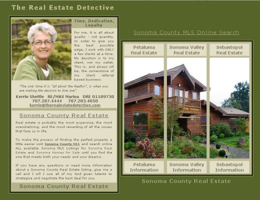 Sonoma County Real Estate client